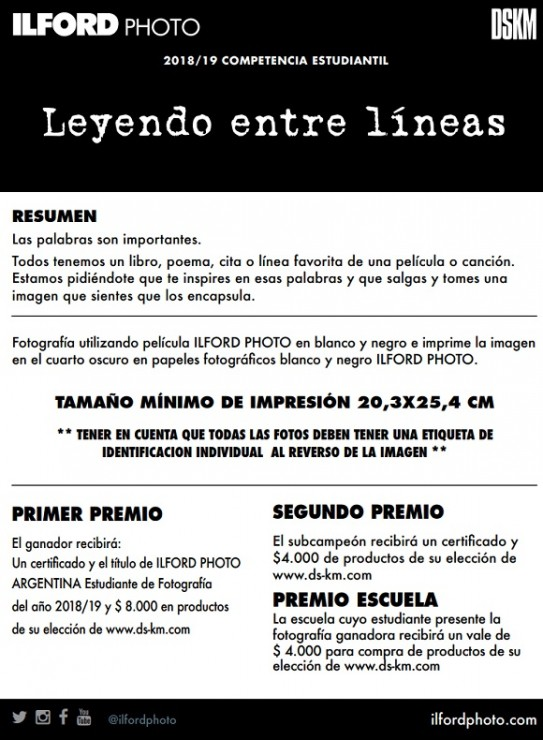 Concurso de Fotografía Blanco y Negro 2018/2019 – Ilford Photo