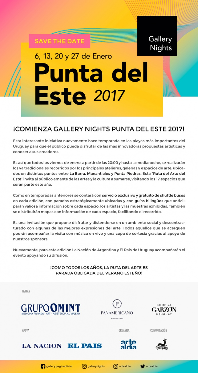 Gallery Nights Punta del Este 2017